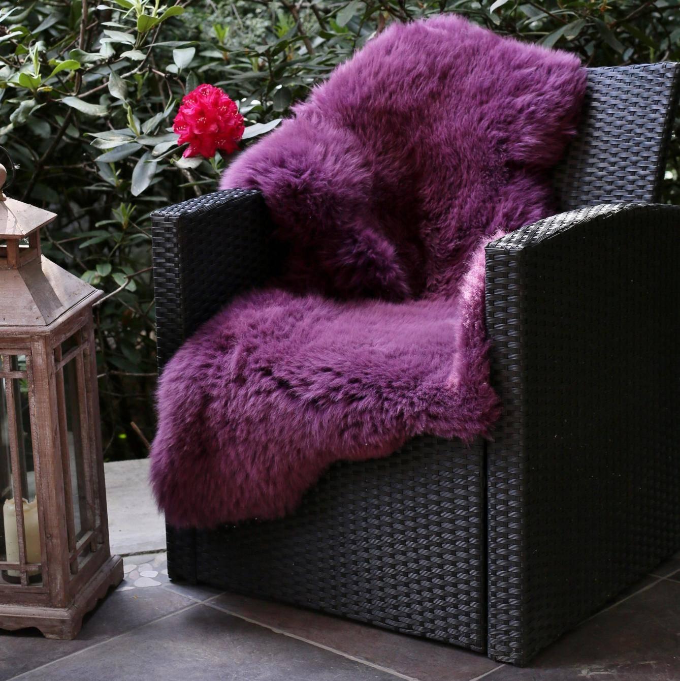 echtes merino schaffell lammfell flieder geschoren der. Black Bedroom Furniture Sets. Home Design Ideas